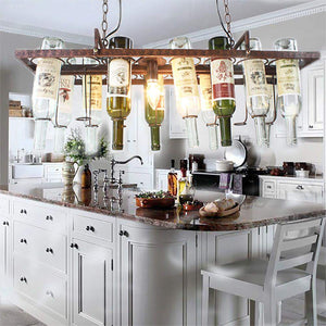 Hanging Wine Bottle LED Ceiling Pendant Light Fixture to Recycle 14 of your Favourite Bottles-Distinct Designs (London) Ltd