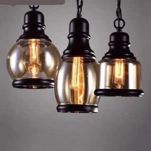 Loft Pendant Industrial Style Pendant Light in Iron and Glass for Chunky Retro Lamp style-Distinct Designs (London) Ltd