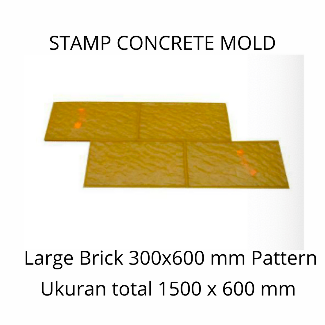 Stamp Concrete Mold:  Large Brick