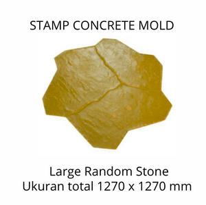 Stamp Concrete Mold:  Large Random Stone