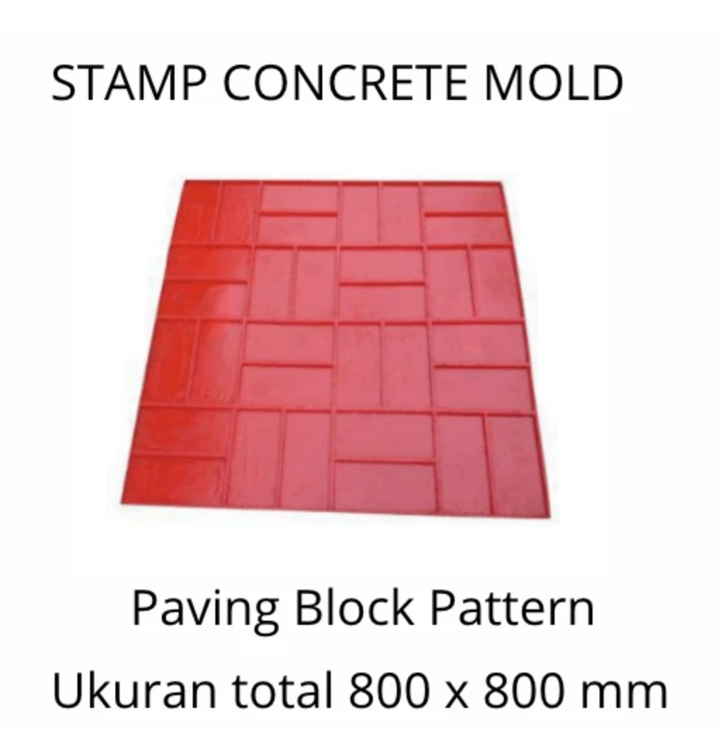 Stamp Concrete Mold:  Paving Block Style