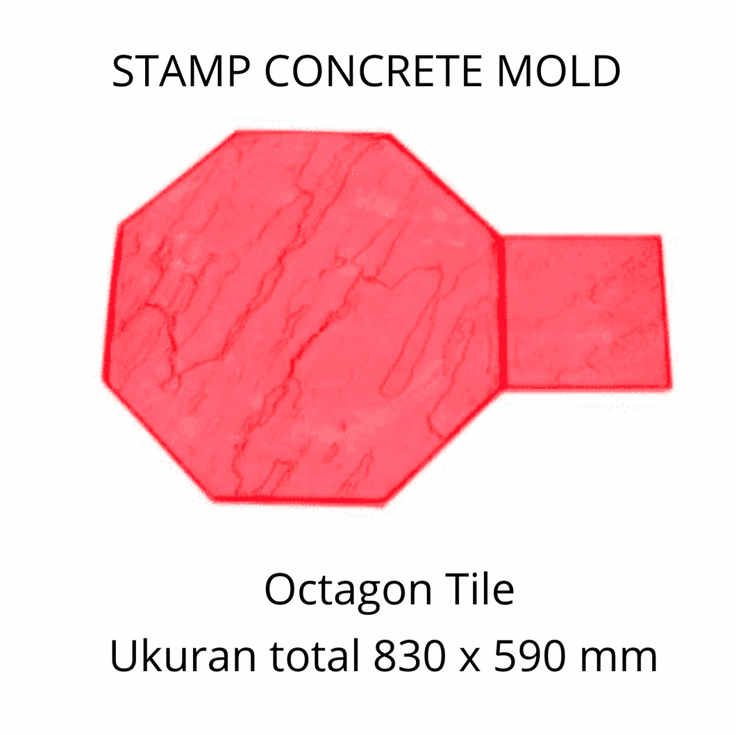 Stamp Concrete Mold: Octagon Tile