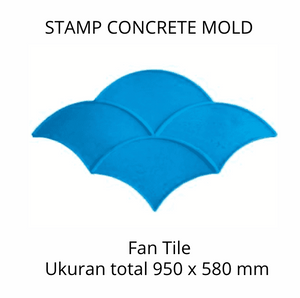 Stamp Concrete Mold: Fan Tile