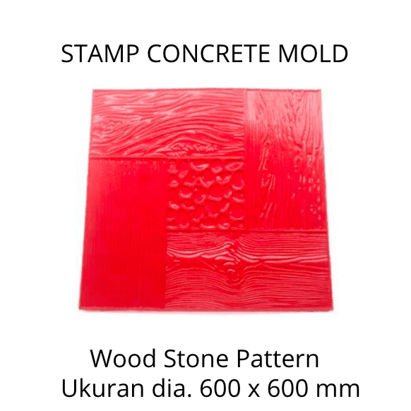 Stamp Concrete Mold:  Wood Stone pattern