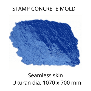 Stamp Concrete Mold:  Seamless Skin