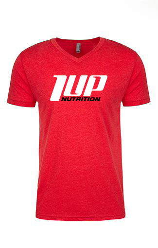 1UP Nutrition Men's Red V-Neck