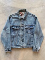 Levi's Lined Camel Collar Denim Jacket - size M