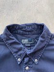 Lacoste Chemise Lacoste 80s Knitted Navy Sweat - fits M