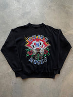 FUBU 90s Embroidered Spellout Charcoal Sweat - fits S