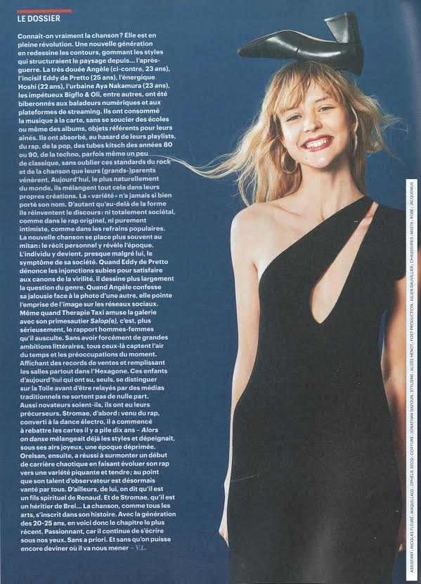 Miista Eularia featured in TELERAMA
