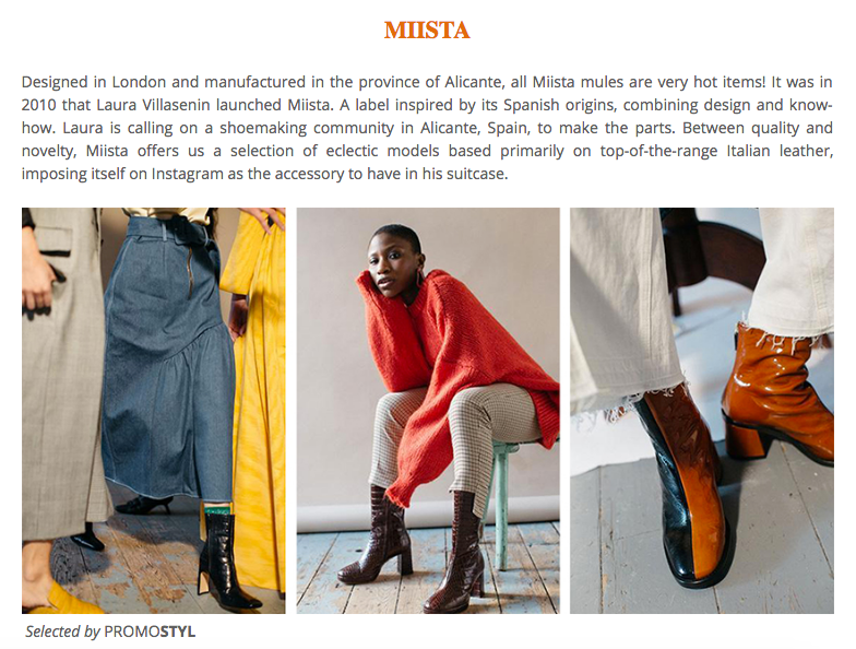 Miista Featured In PROMOSTYL