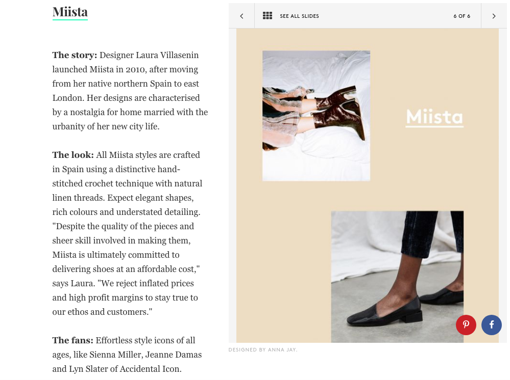 Miista Featured On Refinery29: Shoe Brands That Fashion People Love