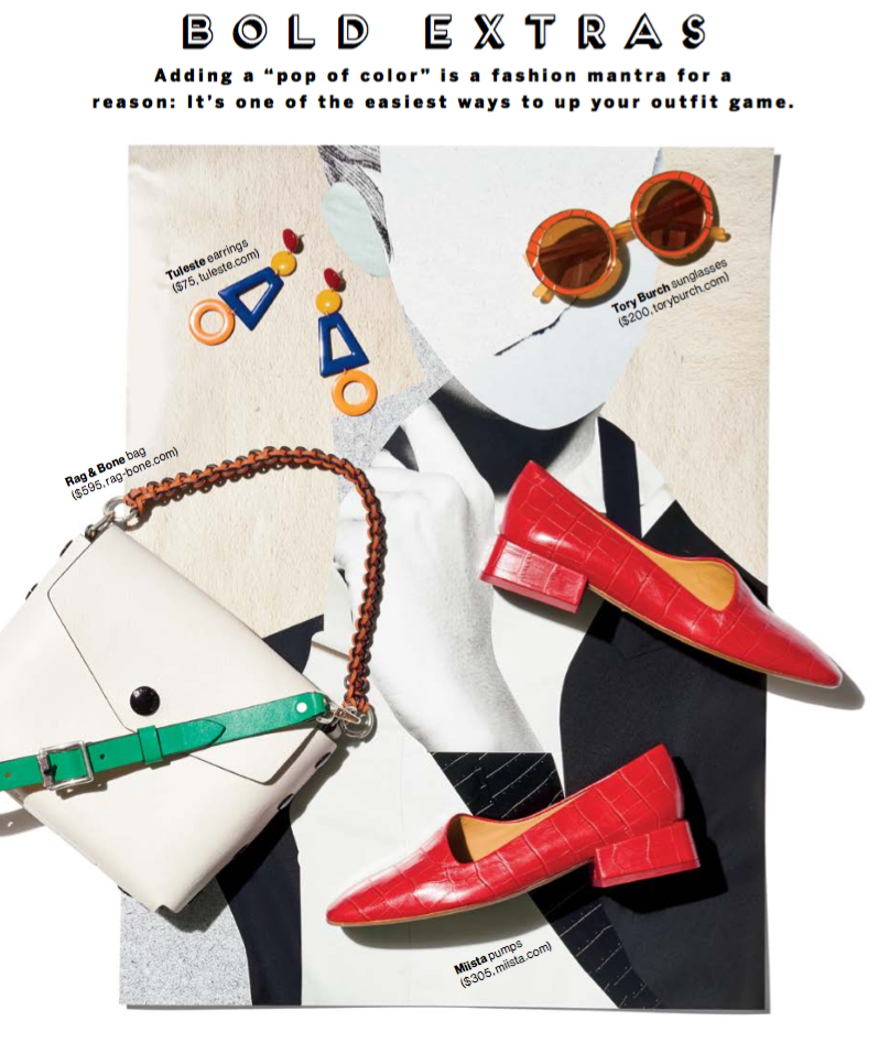 Miista Coraline Red Croc featured in Glamour