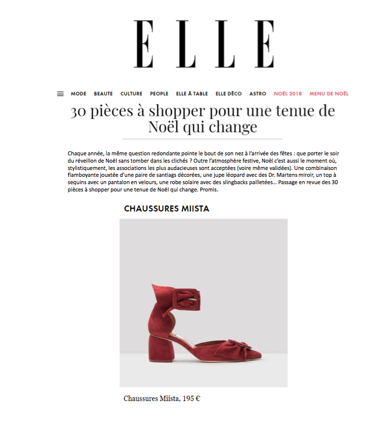 Miista Mireille featured in ELLE