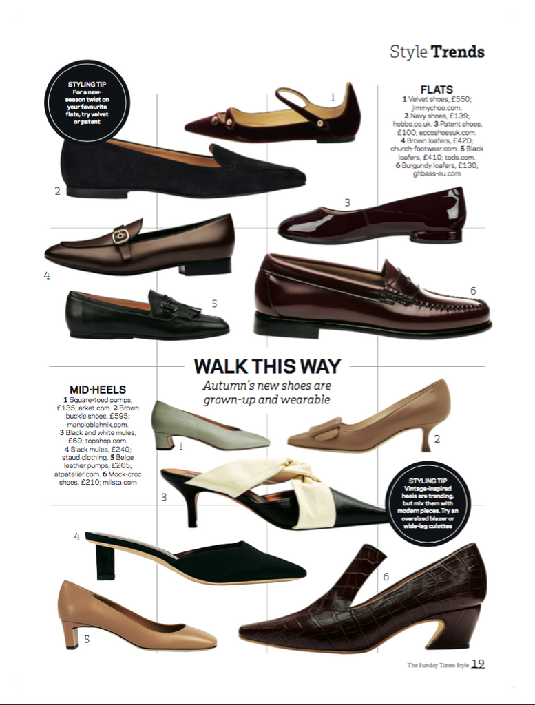 Constance Mahogany Croc Featured in The Sunday Times Style