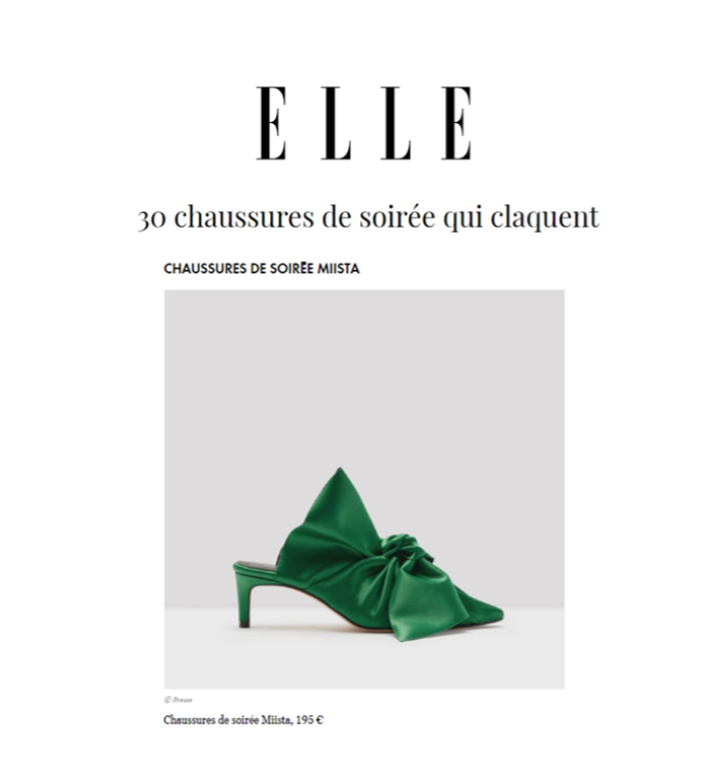 Miista Paulette Bakelite Satin boots featured in Elle France