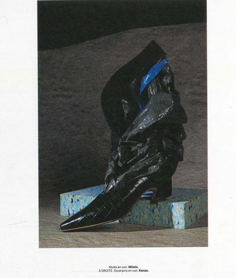 Antonine Black Croc featured in Stylist France
