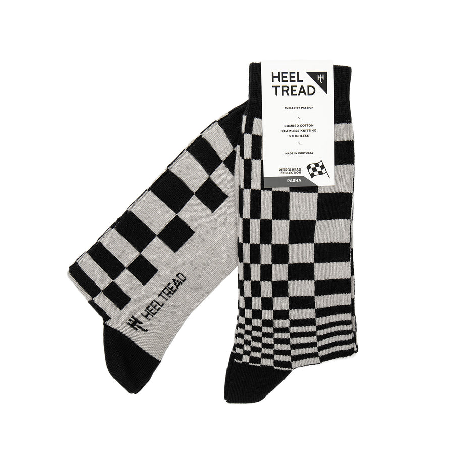 Pasha Black/Grey Socks