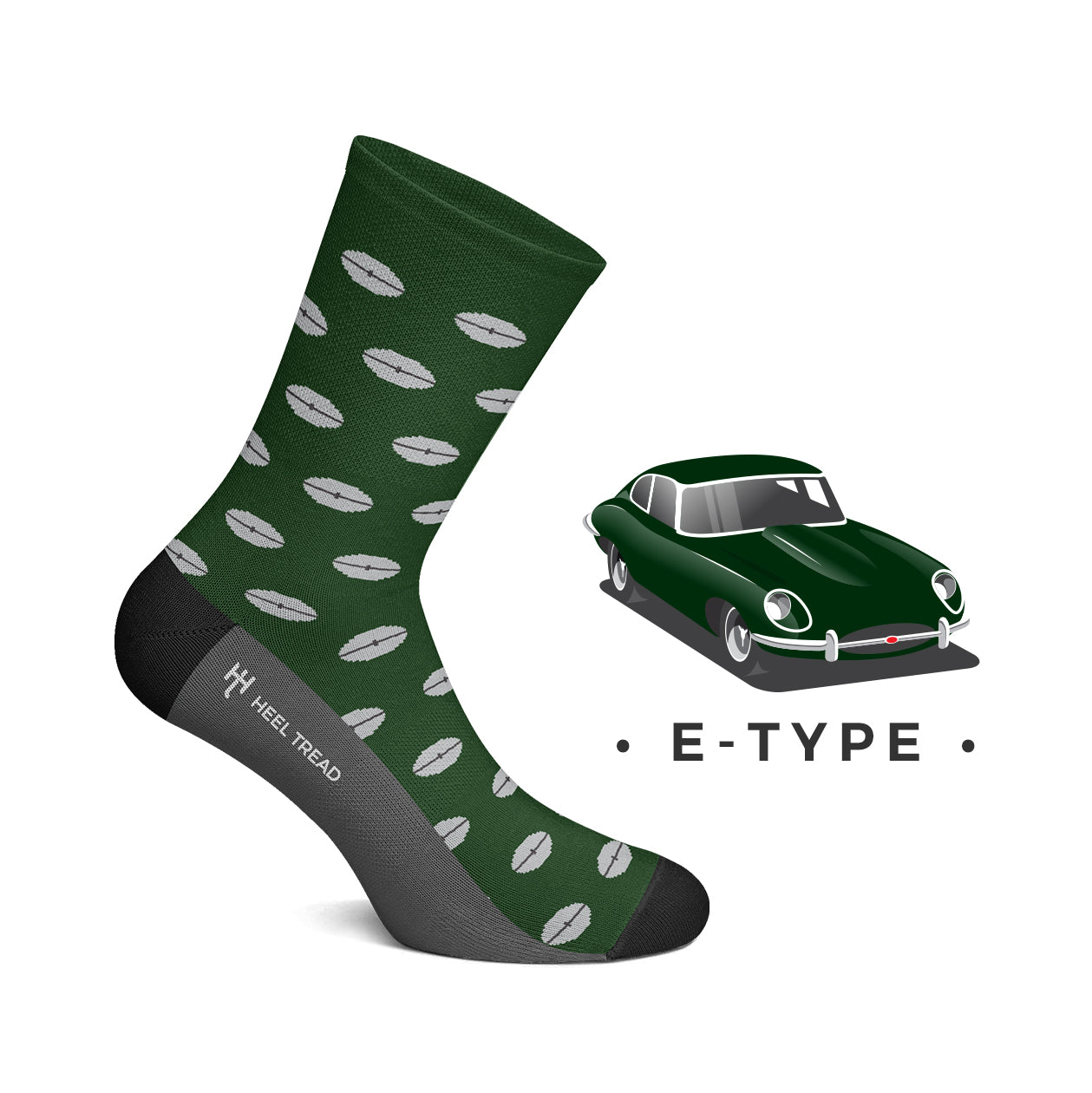 Heel Tread - E-Type Socks