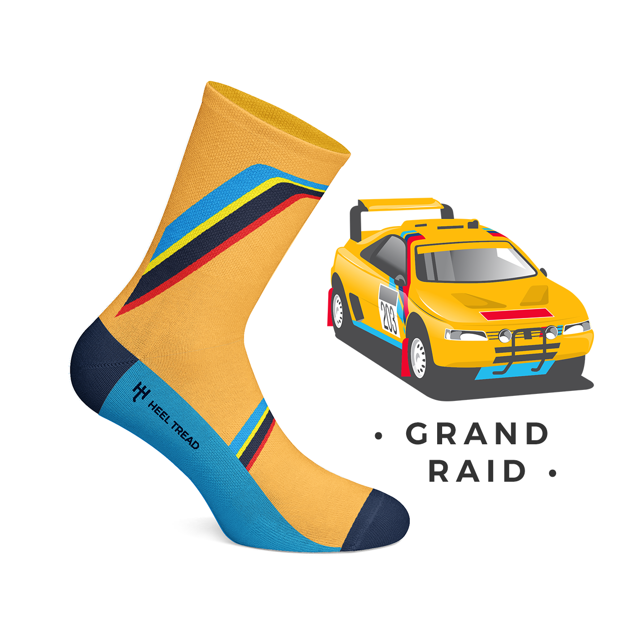 Heel Tread - Grand Raid Socks