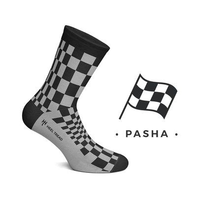 Heel Tread - Pasha Black/Grey Socks