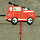 Red Fire Engine Childrens Coat Hook