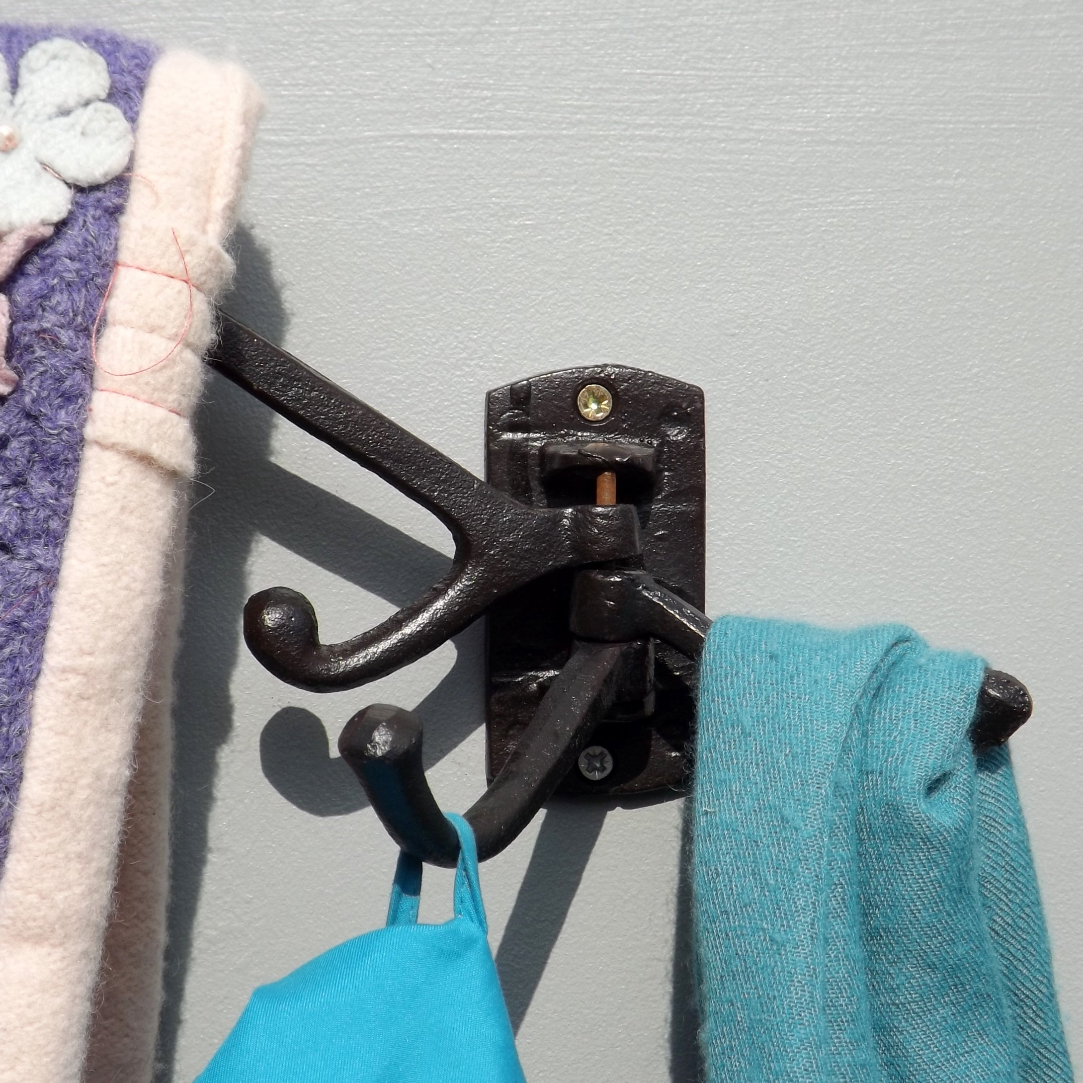 Three Arm Compact Coat Rack