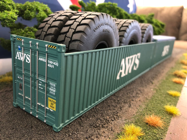 AWS 40' 9'6 Open Top Container. 1/50 scale diecast model