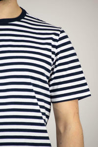 XS Albam Simple T Shirt Navy-White Jackets