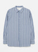 Universal Works New Standard Shirt Indigo Chambray Stripe Shirts Atelier Bleu