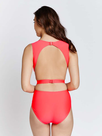 Kai Draped and Belted embellished Swimsuit