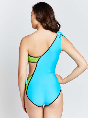 KAI  Tri Color Asymetric Swimsuit