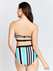 KAI Striped Belted Bandeau Two Piece