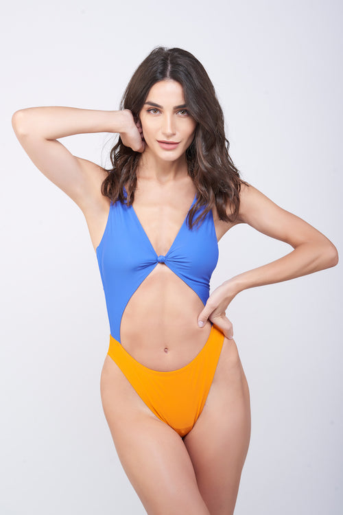 KAI Knot Colorblock Swimsuit