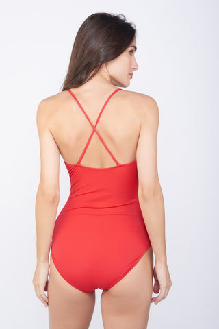 KAI Red Cutout Swimsuit