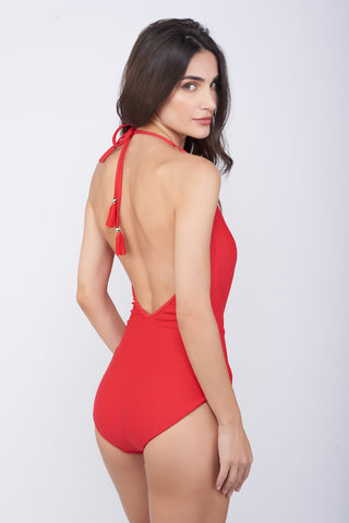KAI Red Twist Swimsuit