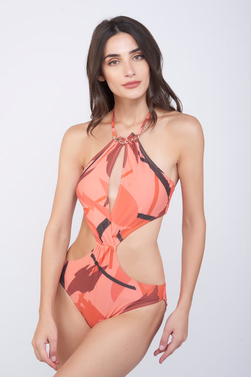KAI Ruby Chain Halter Swimsuit