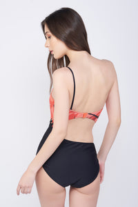 Kai Ruby Mesh One Shoulder