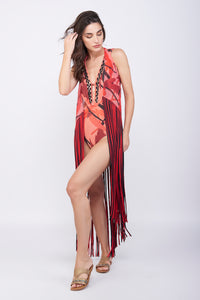 KAI Ruby Fringed Coverup