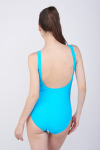 KAI Two tone Drape Swimsuit