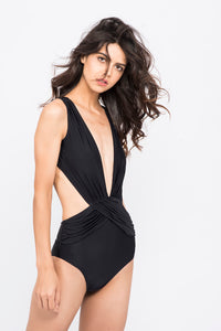 KAI  Plunge Neck Backless Monokini