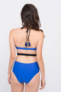 KAI  Colorblock Belted Swimsuit