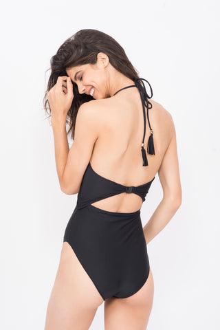 Kai High waisted embellished Monokini