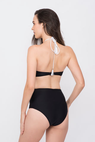 KAI Monochrome  Embellished  High Neck Swimsuit