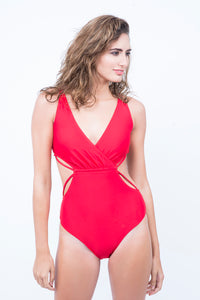 KAI Plunged V Neck  Cutout  Monokini