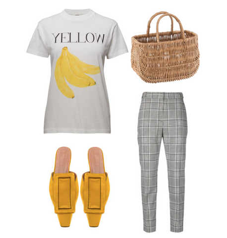 Gen Z yellow outfit with basket
