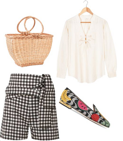 Rosie basket and Irene blouse outfit