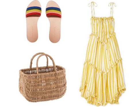 Summer basket outfit for hot days