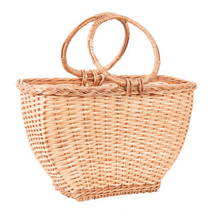 Rosie basket bag with split willow twigs