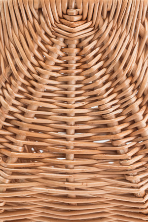 Woven wicker material